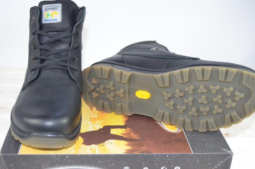 b730d3489 Мужские ботинки итальянской фирмы Гриспорт чёрные кожа 12917-23. Артикул:  12917-23